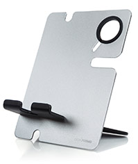 apple watch and iphone stand silver-black