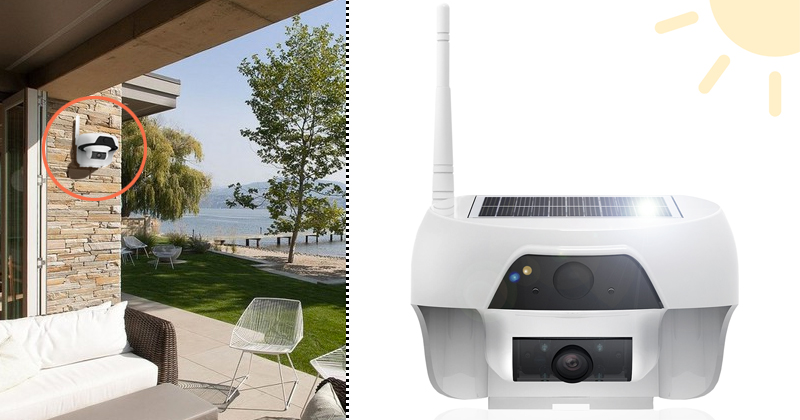 lxory solar security camera