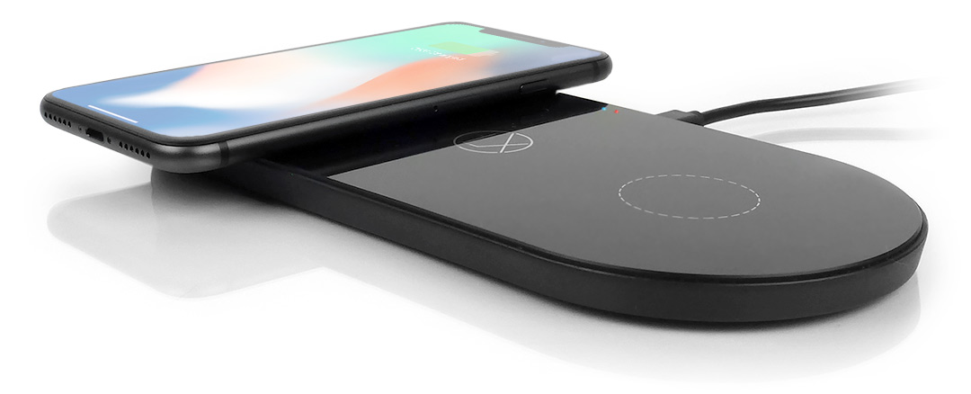 dual wireless charging pad lxory 3 in 1 qi charger station. Black Bedroom Furniture Sets. Home Design Ideas