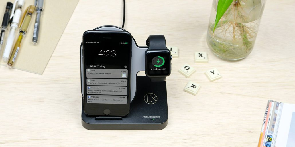 LXORY wireless apple watch stand